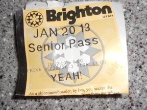 Senior ski ticket