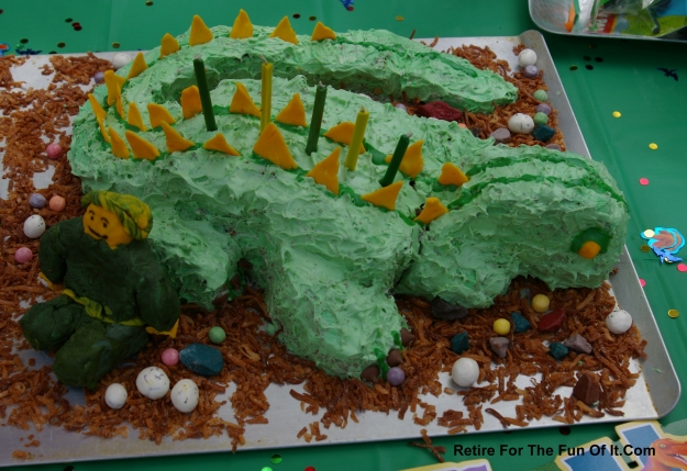 Dinosaur cake birthday 2