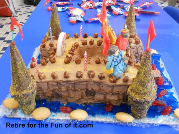 Birthday cake side pic