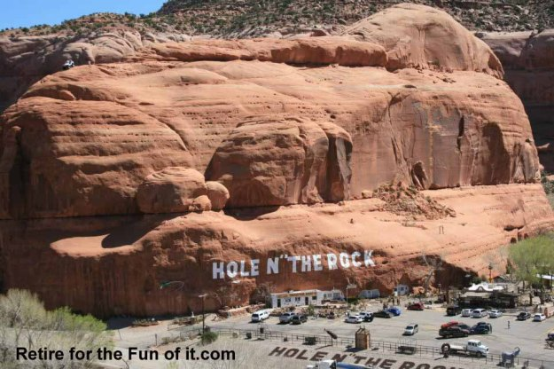 Front view, Hole in the Rock