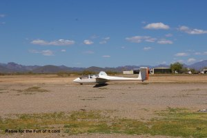 Glider returned to earth