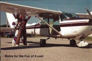 Lee's Birthday Tandem skydive 1
