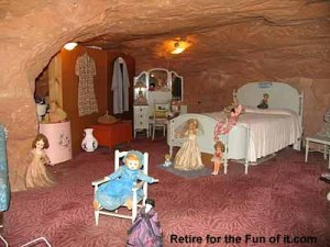 view of the wife's doll collection, Hole in the Rock