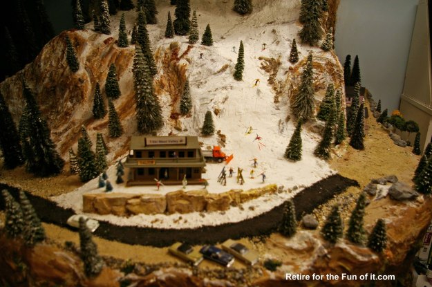 Model Train Ski area