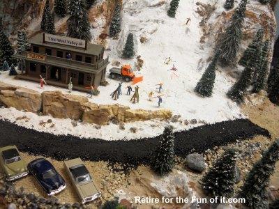 Model Train Ski Hill 1