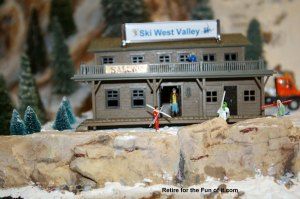 Model Train Ski Lodge